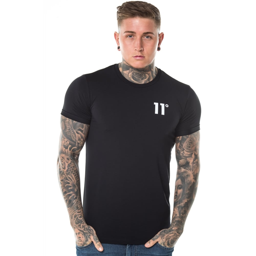 b4b18db5408 Core Muscle Fit Tee Black by 11 Degrees
