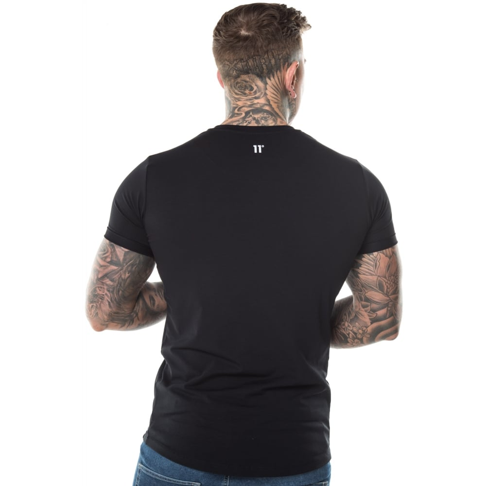 Core Muscle Fit Tee Black by 11 Degrees