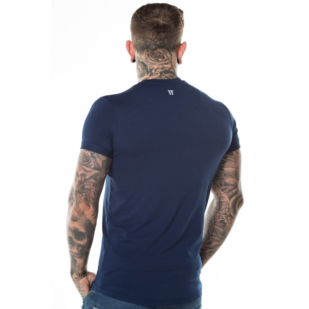 Core Muscle Fit Tee Navy by 11 Degrees
