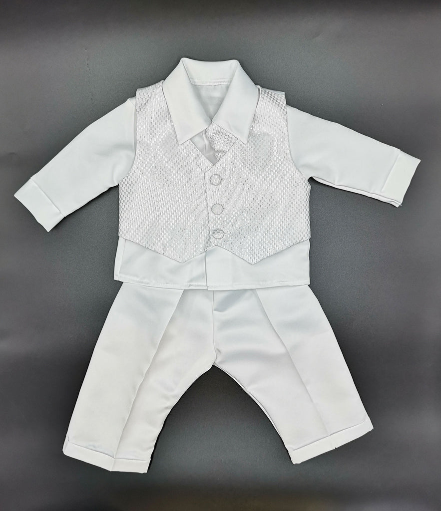 Boys 4 Piece Christening Suit