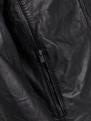 Davin Leather Jacket By Jack Jones Premium