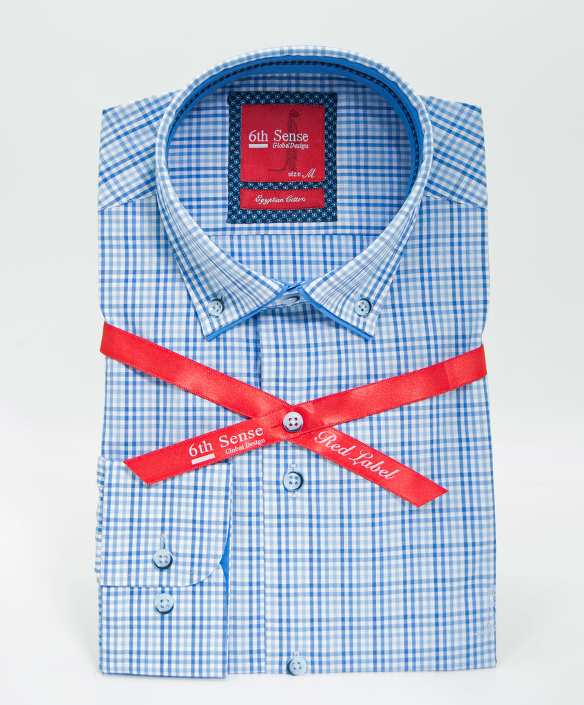 Royal Small Check Button Down Shirt