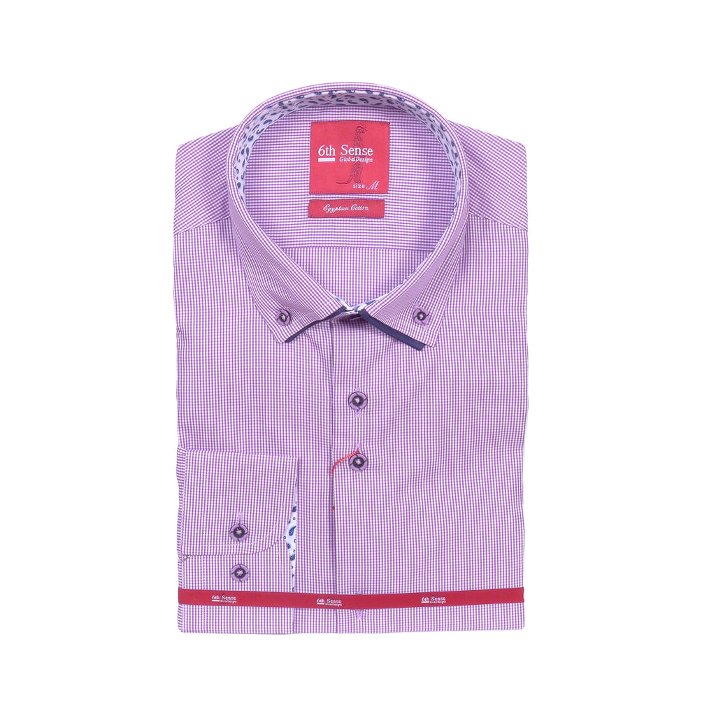 Check Long Sleeve Shirt by 6th Sense