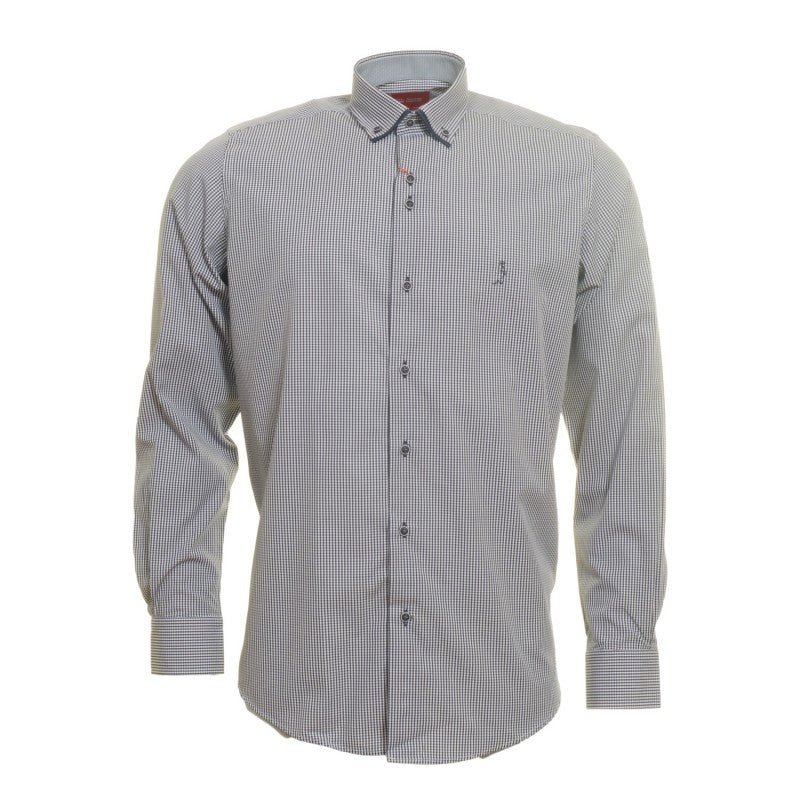 Double Collar Check Shirt ST-E by 6th Sense