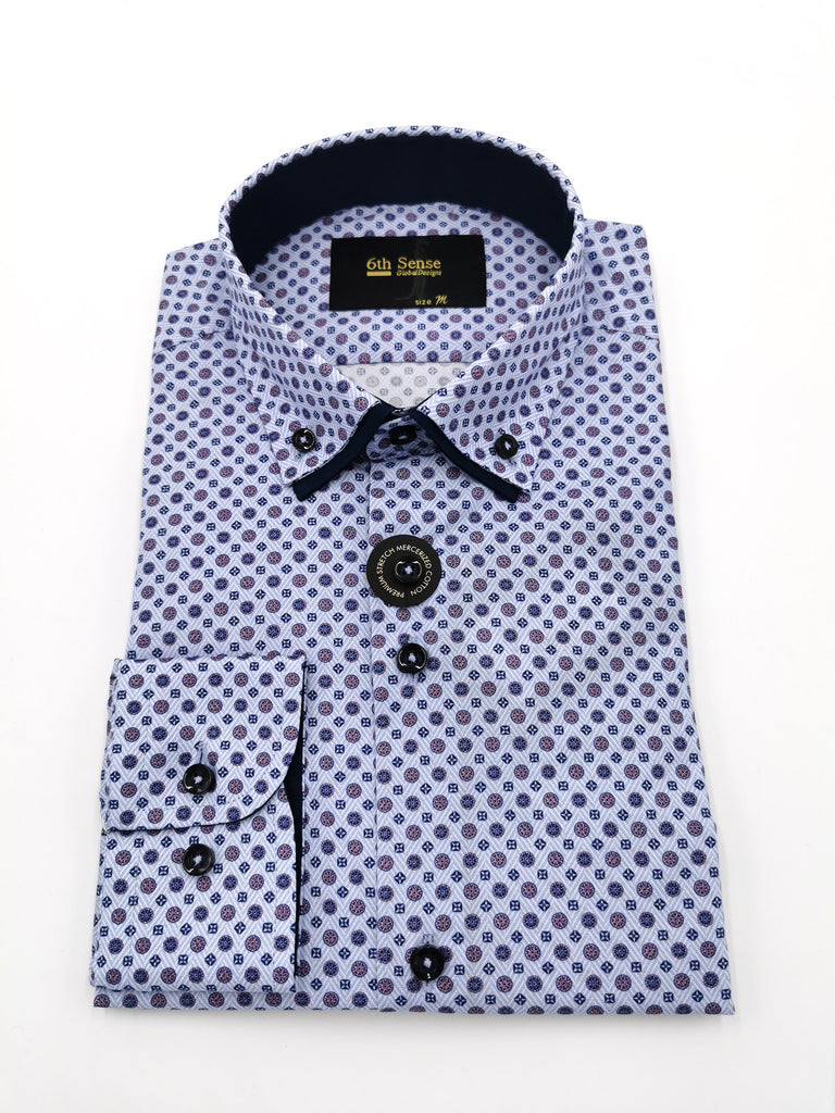 Double Collar 23 Print Shirt