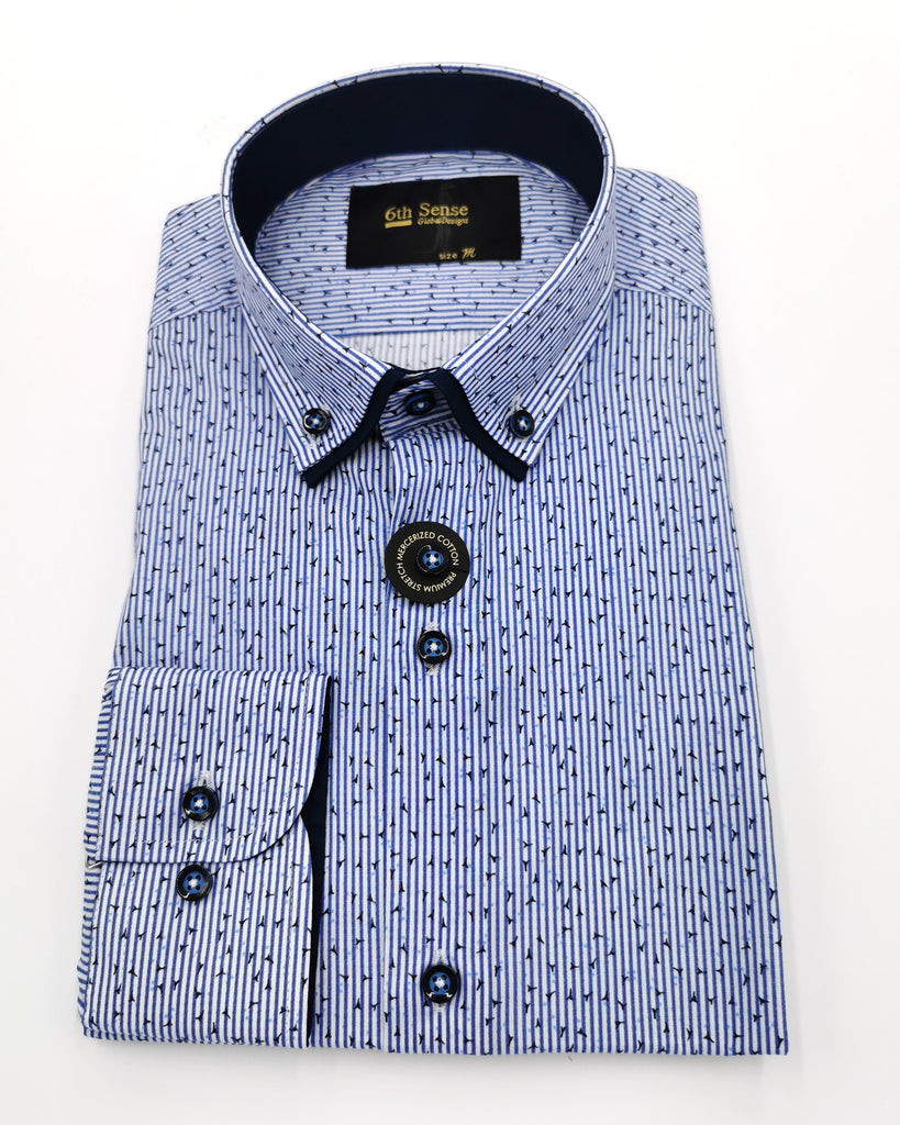 Double Collar 26 Print Shirt