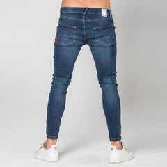 Destrukt Super Skinny Jeans - Indigo by 11 Degrees