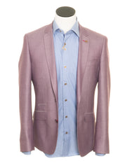Men's Diamond Wine Blazer By 6th Sense