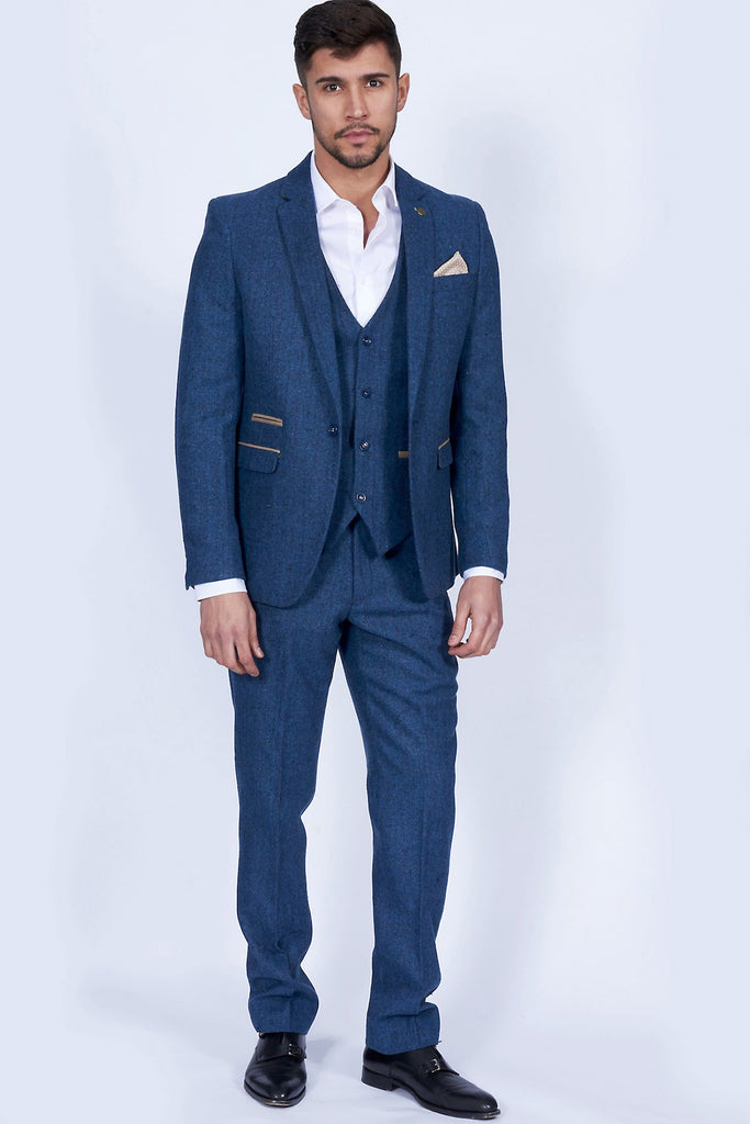 Dion Tweed Herringbone Blazer By Marc Darcy
