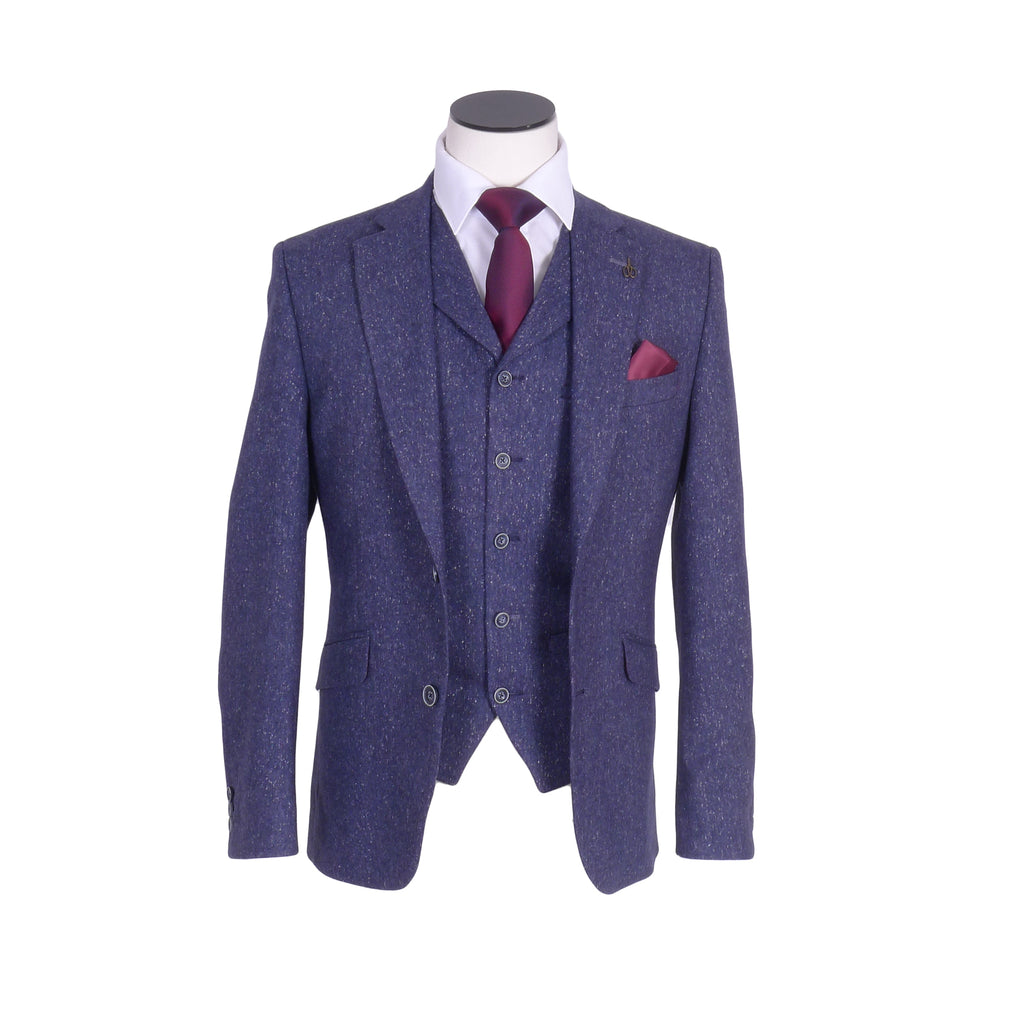 Donegal Blue Fleck Tailored Suit By Gibson London
