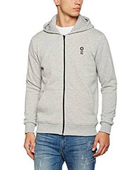 Jack Jones Core JCONaaron Zip Hoodie Light Grey