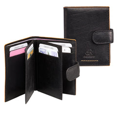 Amsterdam Leather Credit Card Holder 91636 Black
