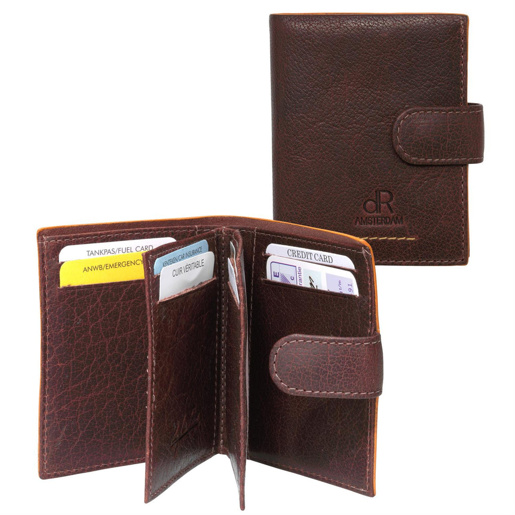 Amsterdam Leather Credit Card Holder 91636 Brown