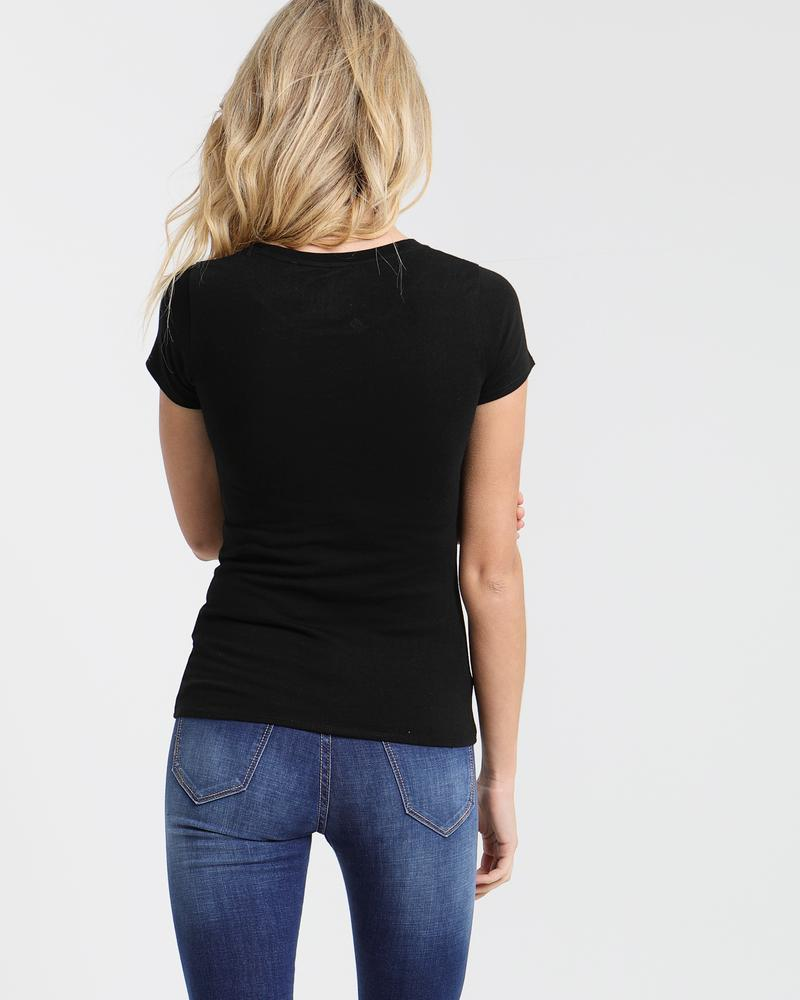 Cloda Basic Tee Black _back