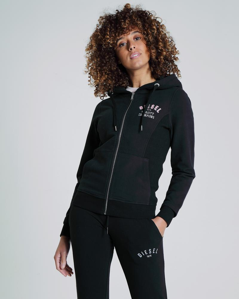 Charlize Zip up black women's hoodie