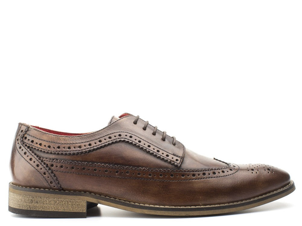 Base London Durham Washed Brown Shoe