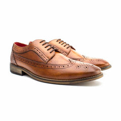 Durham Washed Tan Shoe By Base London