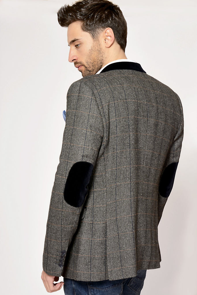 Dx7 Heritage Tweed Check Blazer By Marc Darcy London