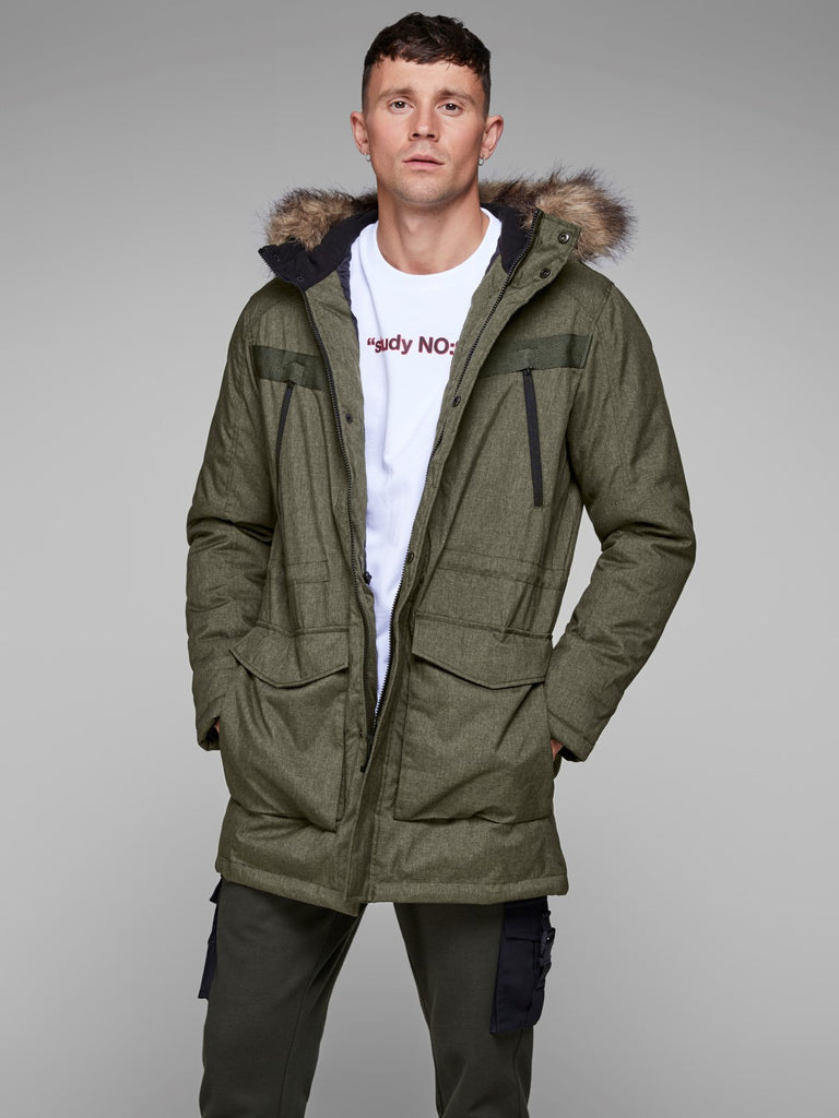 Earth Parka Jacket by Jack & Jones Core - Front