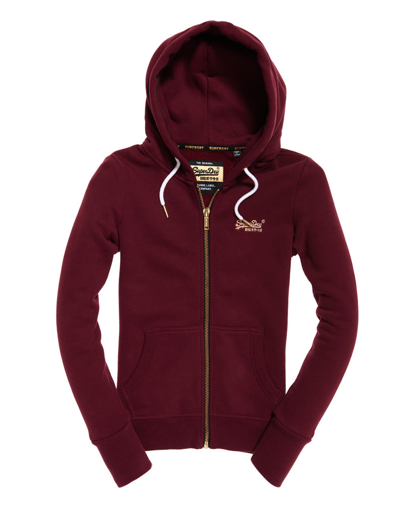 Orange Label Elite Zip Hoodie by Superdry Womens - Front