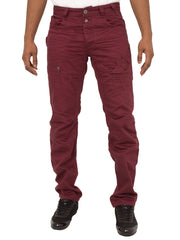 Mens Tapered Leg Burgandy Jeans By Eto Jeans