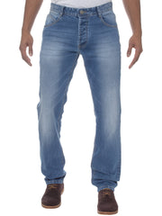 Tapered Fit Blue Stonewash EM538 Jeans By Eto Jeans