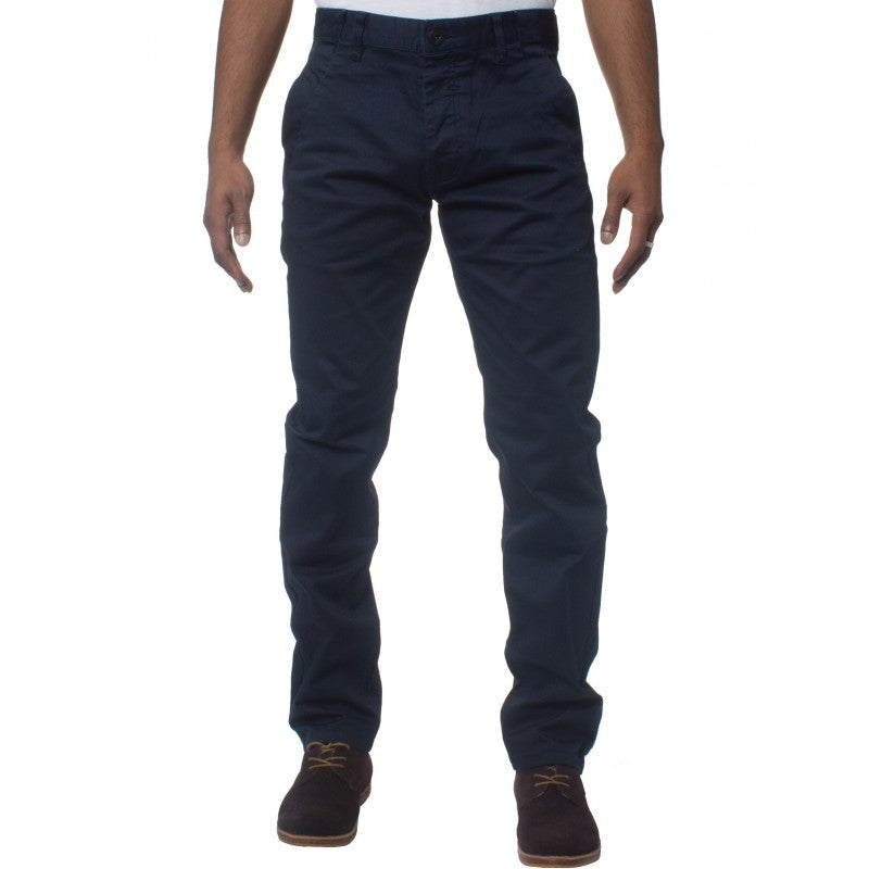 Mens Tapered Fit Stretch Navy Pants By Eto Jeans