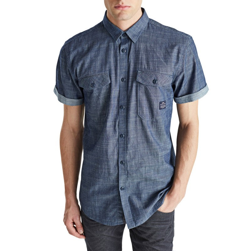 Erik Denim Short Sleeve Shirt By Jack Jones Core