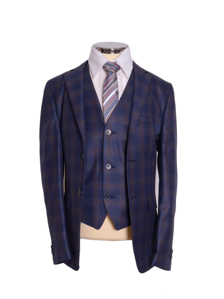 Euroboss Check Boys Suit By Kilinch