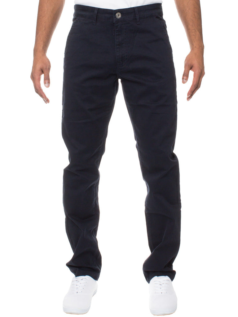 Slim fit stretch navy chino ez348