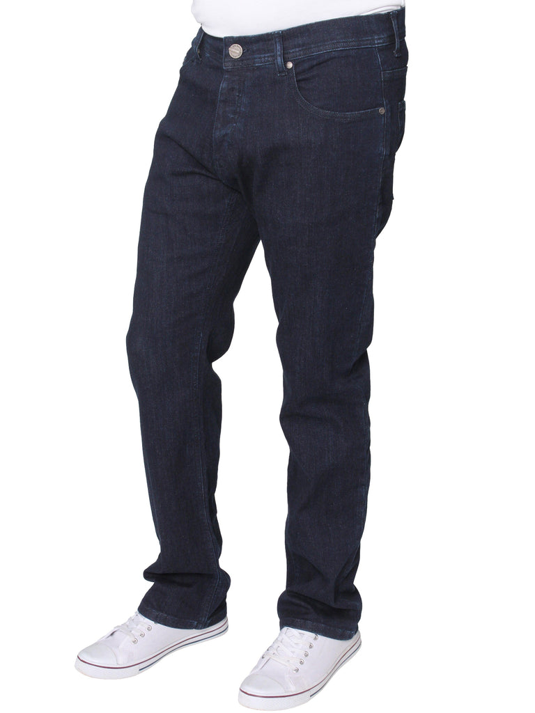 Mens Blue Regular Fit Stretch Jeans