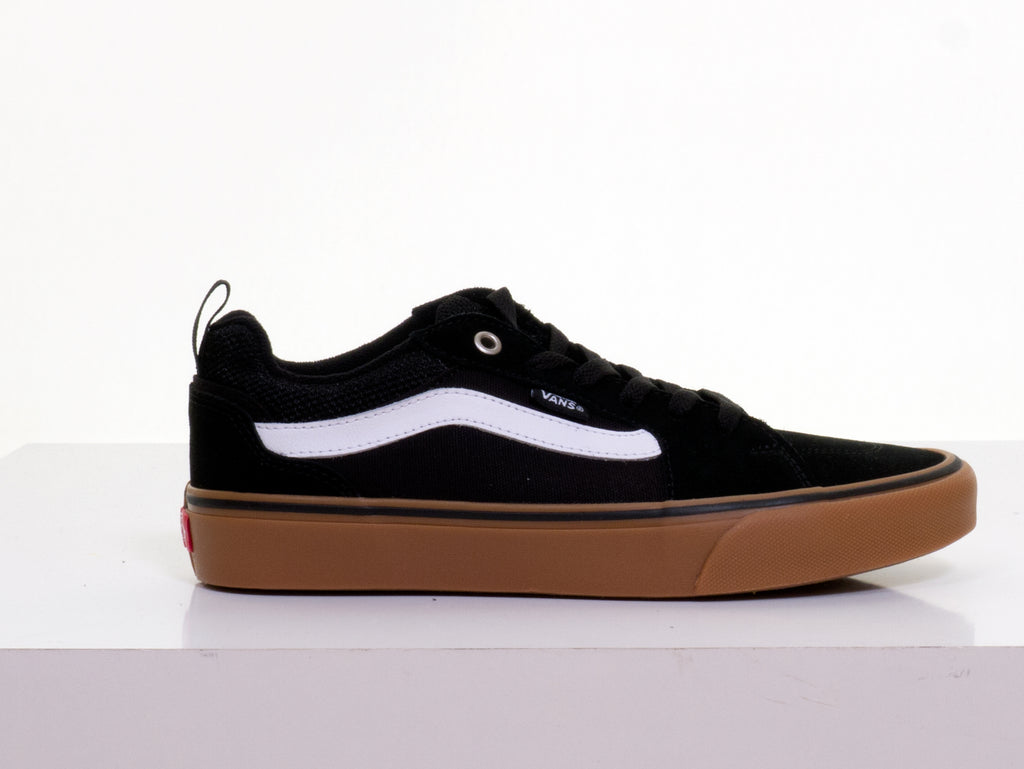 Filmore Suede Stripe Black-Gum Trainer By Vans