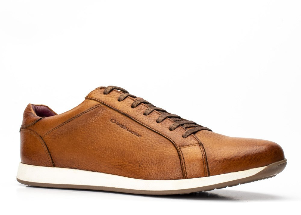 Flare Tan Grain Trainer by Base London
