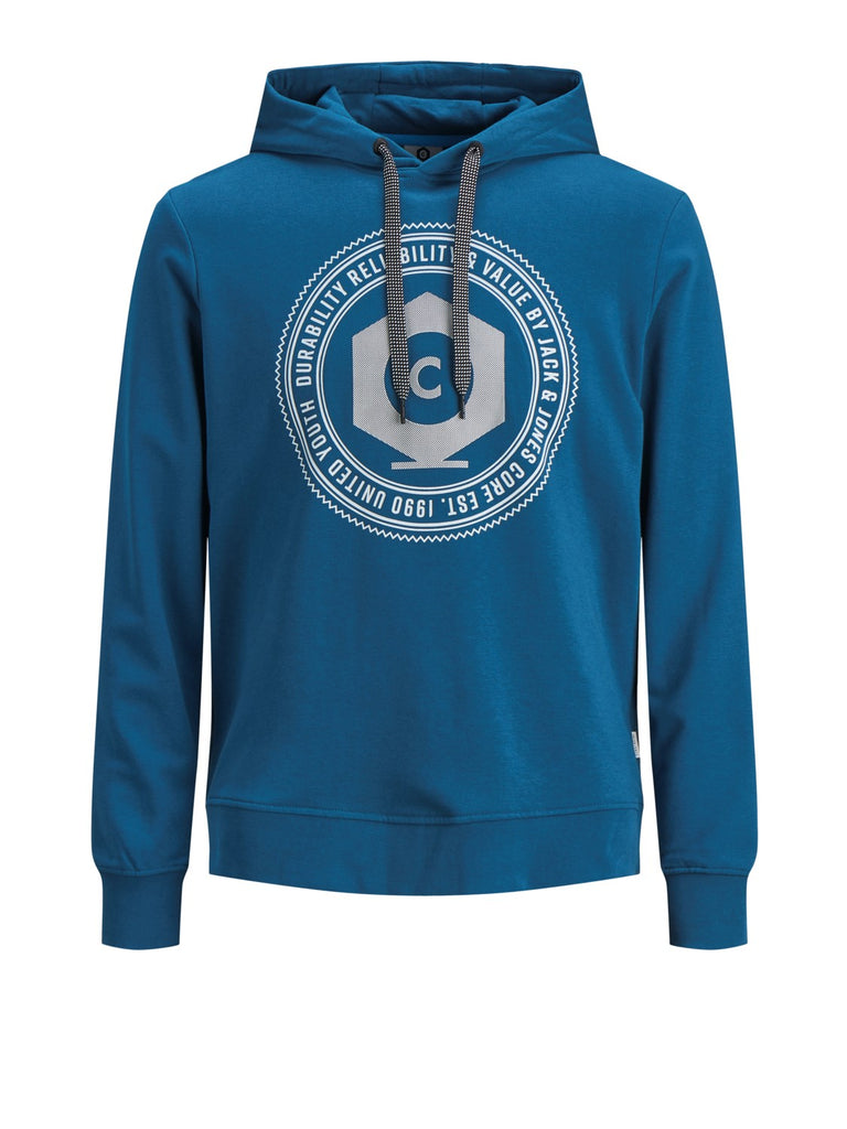 Frank Sweat Hood - Blue Coral - Front