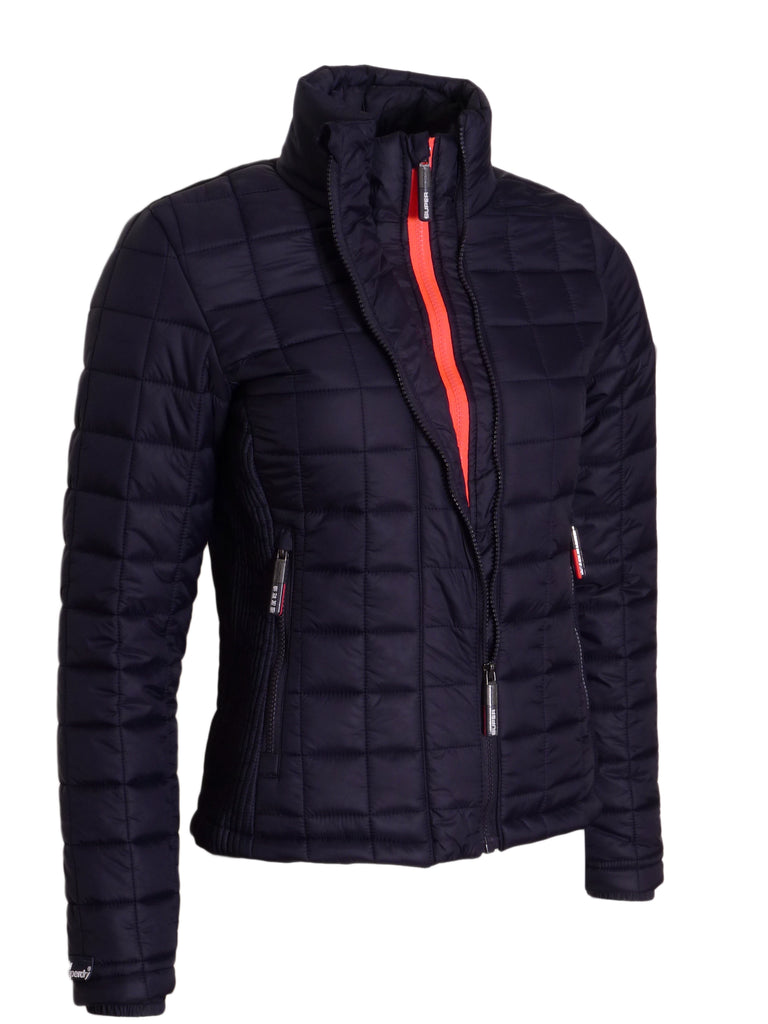 Box Quilted Jacket By Superdry Womens