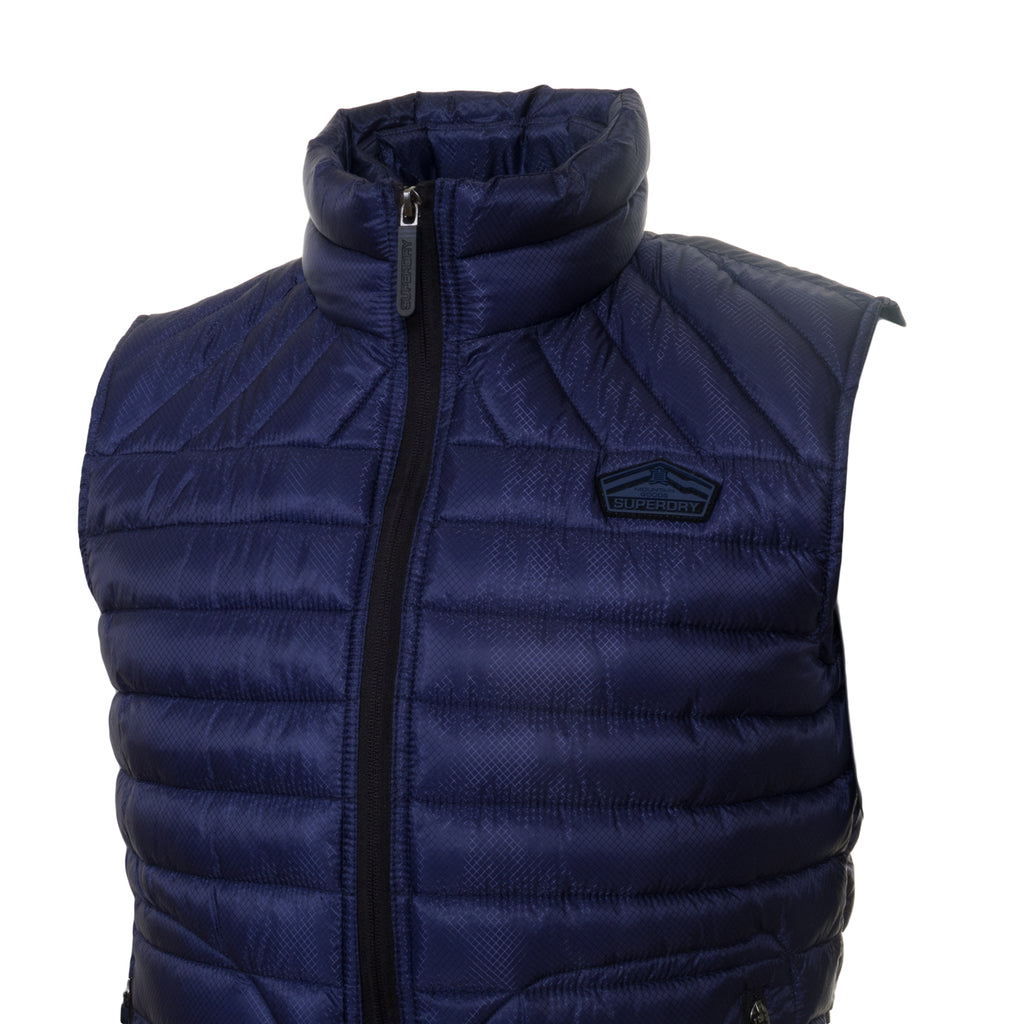 Fuji Double Zip Navy Gilet by Superdry