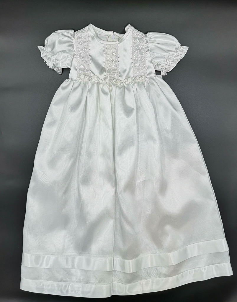 Frill Long Christening Dress