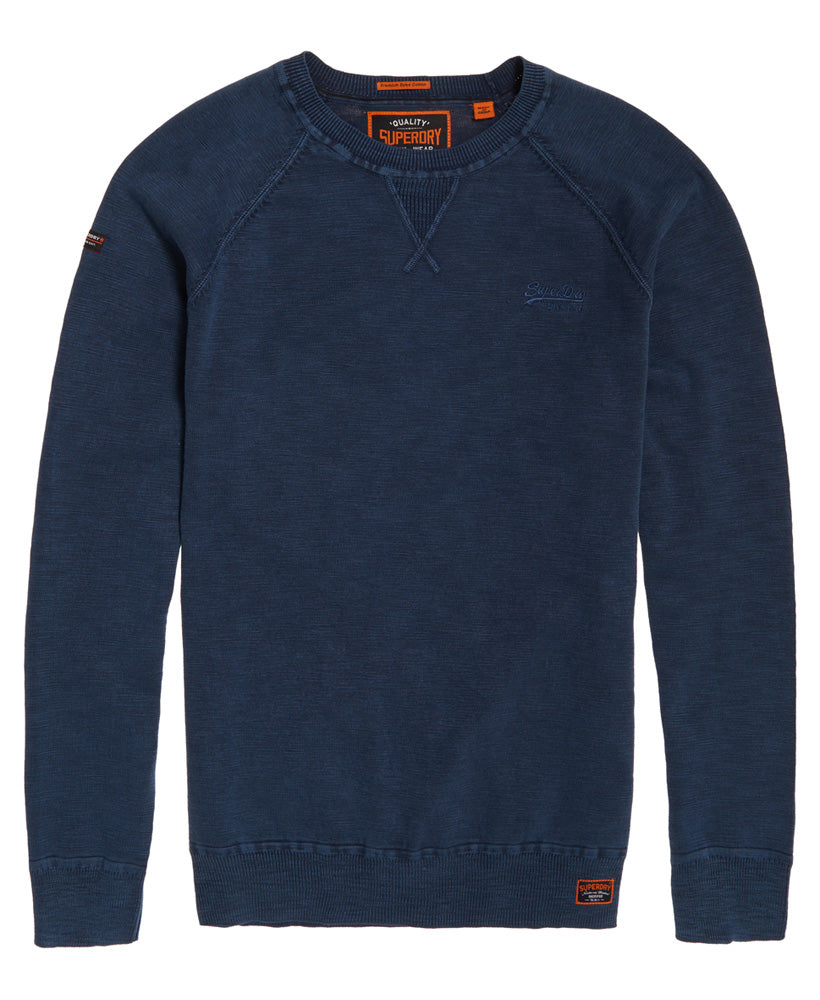 Garment DYE L.A Washed Dry Storm Navy Crew by Superdry