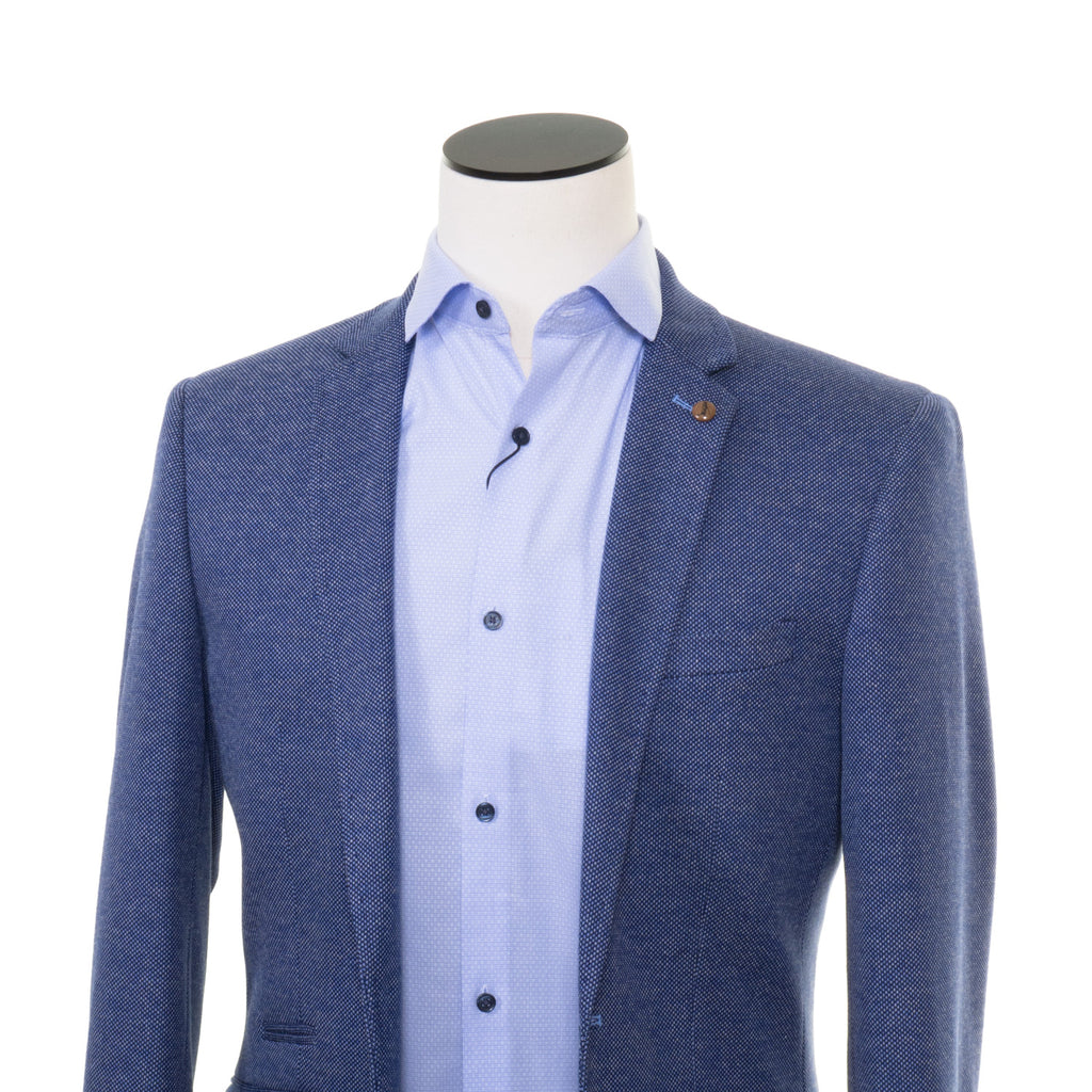 Gem Blue Pattern Blazer By 6th Sense