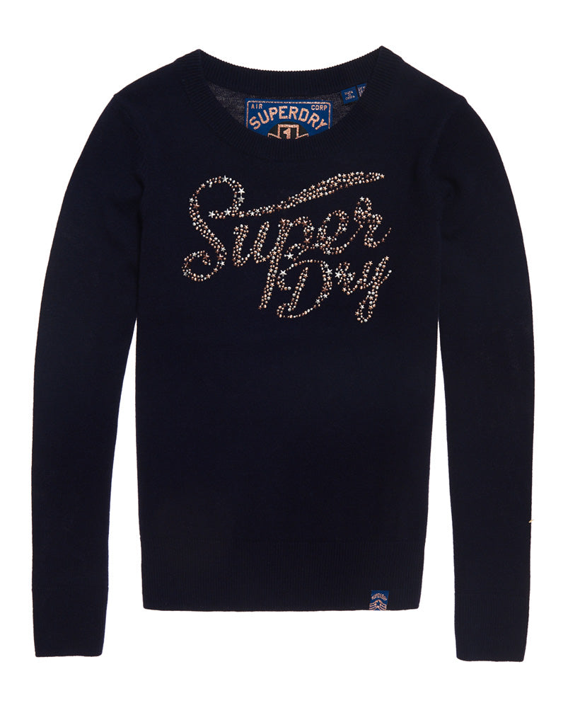 Gemstone Indigo Marl Jumper by Superdry Womens - Front
