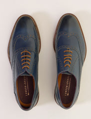 George Oxford Navy Brogues By London Brogues