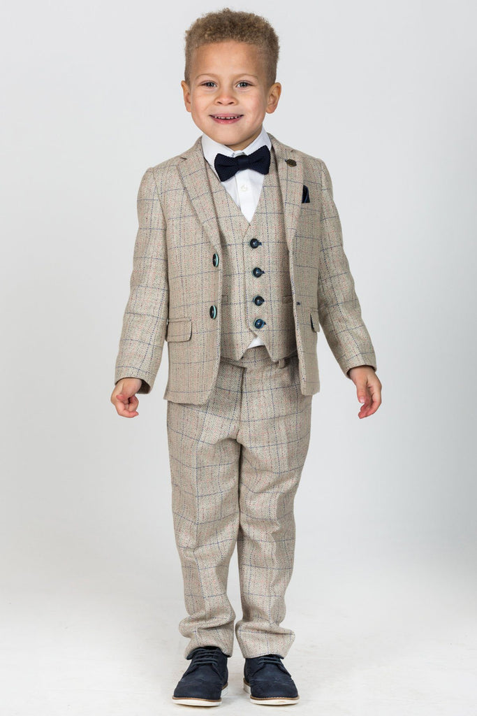 Harding Cream 3 Piece Boys Suit