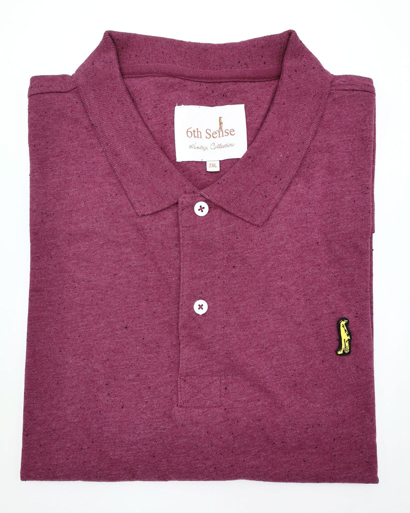 Heritage Short Sleeve Polo 201 beetroot