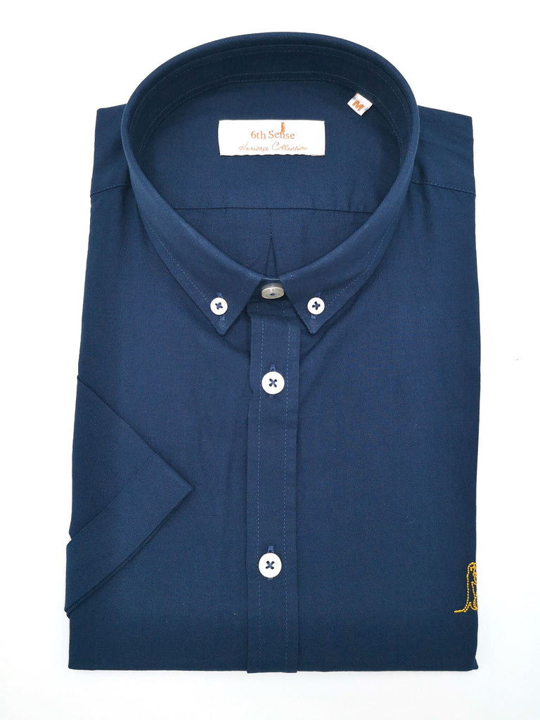 Heritage Oxford BD Navy Short Sleeve Shirt