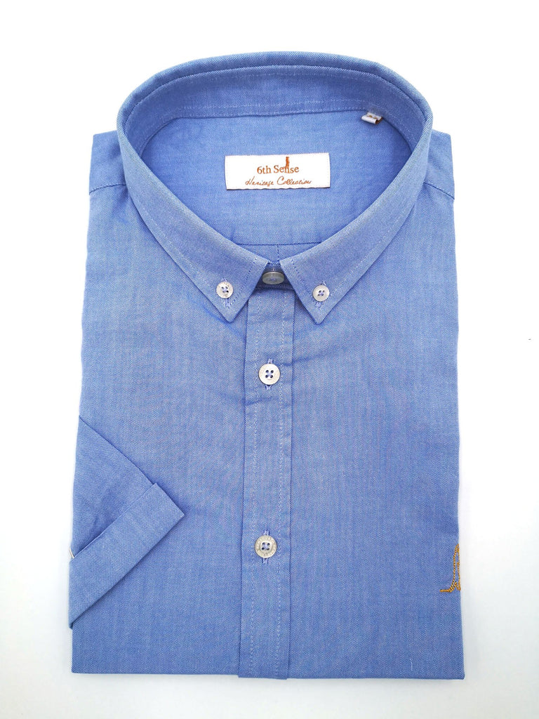 Heritage Oxford BD Sky Short Sleeve Shirt