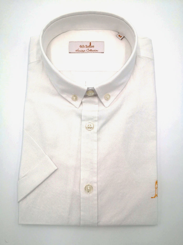 Heritage Oxford BD White Short Sleeve Shirt