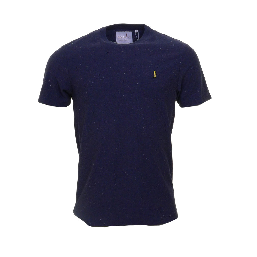 Heritage Slim Fit Speckle Navy Tee by 6th Sense Heritage