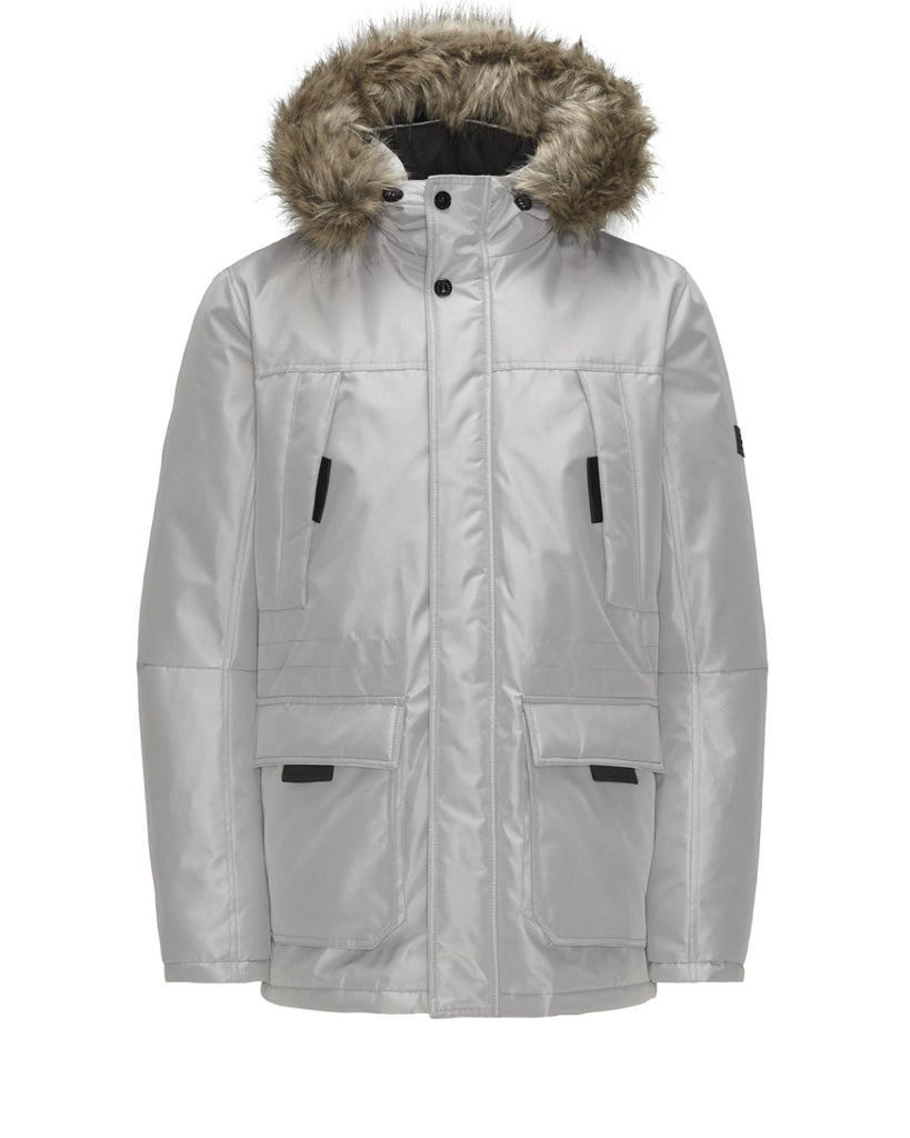 Hollow Padded Parka Jacket By Jack Jones Core
