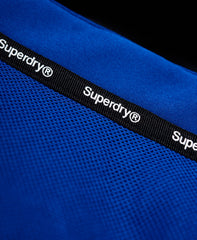 Hooded Blue Marl Windtrekker Jacket by Superdry - Detail