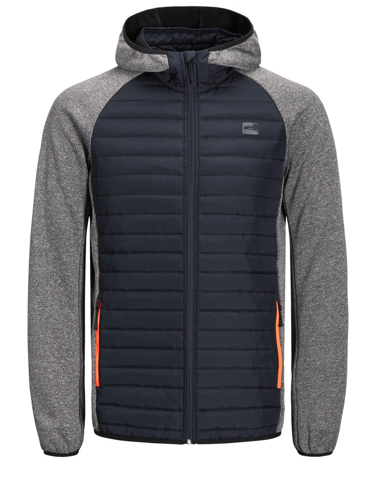 Jack Jones Multi Quilted Grey with Sky Captain Body Jacket